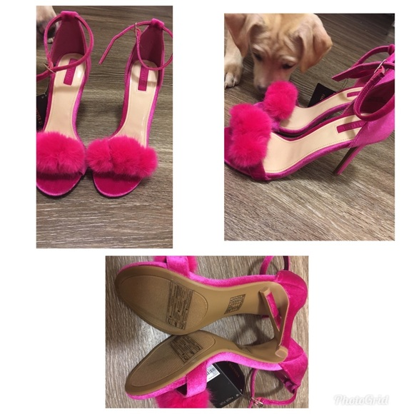 Shoes   Pink Fluffy Heels   Poshmark